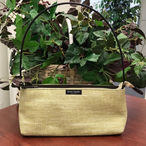 Vintage Kate Spade Woven Satchel Bag